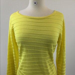 Dana Buchman Yellow LongSleeve Shirt Size M (B-88)